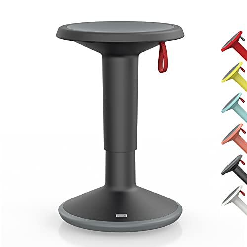 Interstuhl UPis1 – ergonomischer Sitzhocker mit Schwingeffekt – für einen geraden Rücken Made in Germany – inkl. 10 Jahren Garantie (Schwarz, Standard Edition)