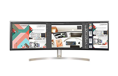 LG 49WL95C-WE 124,46 cm (49 Zoll) Curved QHD UltraWide Monitor (AH-IPS-Panel, HDR10, USB Type-C), schwarz weiß