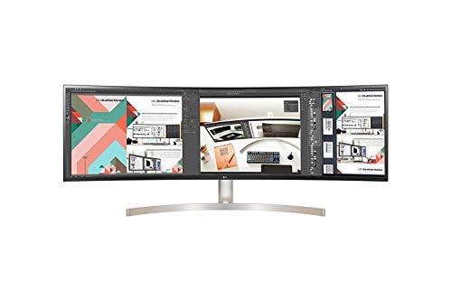 LG 49WL95C-W 124,46 cm (49 Zoll) Curved QHD UltraWide Monitor (AH-IPS-Panel, HDR10, USB Type-C), schwarz weiß