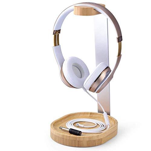 Avantree Universaler Baum & Aluminium kopfhörerständer, Stabil Headset Halter Halterung Holz mit Kabelhalter für Sony, Bose, Shure, Jabra, JBL, AKG, Gaming Kopfhörer Ständer Kopfhörerhalter