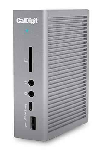 CalDigit TS3 Plus Thunderbolt Station 3 (2.0m) - USB 3.1, USB-C Gen 2, DisplayPort, SD-Kartensteckplatz UHS-II, LAN, optischer Ausgang, für Mac + Pro 2016+ E Windows (Space Grey)
