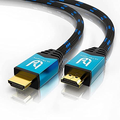 Ultra HDTV 4K HDMI-Kabel - 2 Meter High Speed HDMI 2.0b Kabel - Premium Zertifikat - 18 GBit/s - 4K@60Hz - Auflösung bis 4096x2160 - Knickschutz